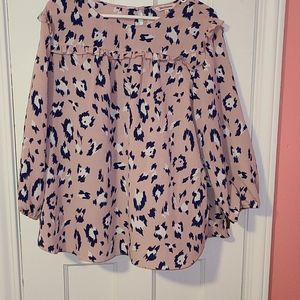 Pink juicy couture shirt with animal print. Xl.